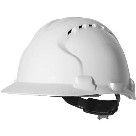 JSP Mk8 Evolution - Casco de seguridad (con ventilación, ruedecita de regulación para ajustar al contorno de la cabeza), color blanco: Amazon.es: Bricolaje ...