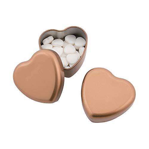 (Fun Express - Gold Heart Shaped Mint Tin for Wedding - Edibles - Mints - Mint Tin & Matchbook - Wedding - 24 Pieces)