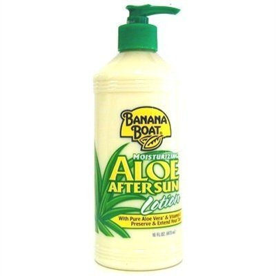 Banana Boat Aloe After Sun Lotion Pump 16 Ounce (473ml) (2 Pack) (Banana Boat Moisturizing Aloe After Sun Lotion)