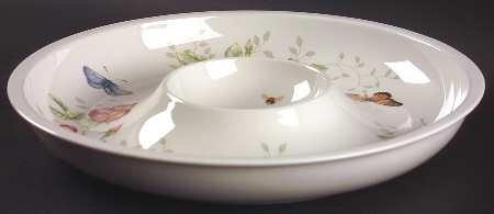 Lenox Butterfly Meadow 1 Piece Chip & Dip, Fine China Dinnerware