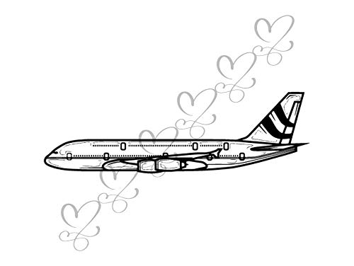 Yetta Quiller Airplane Air Vehicle Sky Travel Flying Taking Off Activity Commercial Airplane Vector Clipart Digital Circuit Vinyl Wall Decor Cutting