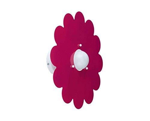 Applique per camerette stanzette bambini fiore margherita fucsia