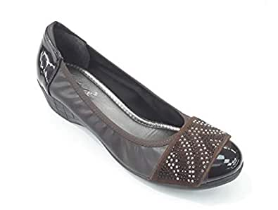 LEMEX Brown Heel For Women