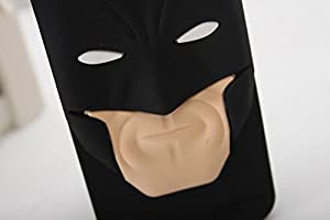 iPhone 6 Case, Maxbomi - 3D Cute Cartoon DC Comics Protective Skin Justice League Dark Super Hero Gotham Batman Arkham Dark Knight Mask Silicone Rubber Protection Cover Soft Cases for iPhone 6 (4.7 inch) at Gotham City Store