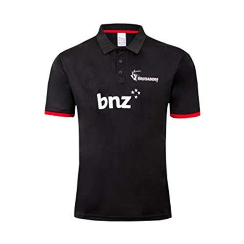Ageaoa Crusader Rugby Jersey 18/19 Men's Training Short Sleeve Pro Jersey Training Polo Shirt Large Size Pro Jersey Sportswear,C,XXL