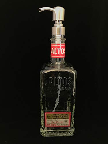 Glass Dispenser for Soap or Lotion Altos Reclaimed Bottle 750 ml Waterproof Label