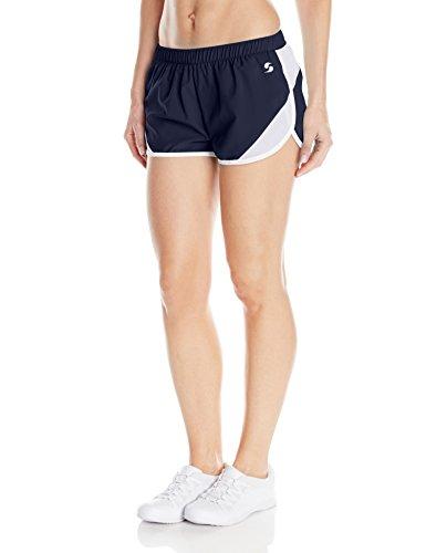 Junior Ladies Cheer Short (Soffe Women's Woven Mesh Insert Short, Navy, X-Small)