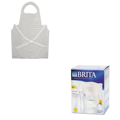 KITBWK390COX35548 - Value Kit - Brita Classic Pour-Through Pitcher (COX35548) and Boardwalk Disposable Apron (BWK390) by Brita