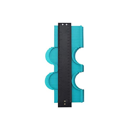 Contour Gauge Duplicator 10 inch Irregular Profile Gauge Duplicator Tiling Laminate Tiles Edge Shaping Wood Measure Ruler Plastic Woodworking Tools Profile Jig Guide ()