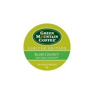 Green Mountain Coffee Roasters, Island Coconut, Limited Edition Keurig Single-Serve K-Cup Pods, Light Roast, Coconut Flavored Coffee, for use with Keurig Coffee Makers, 24 Count