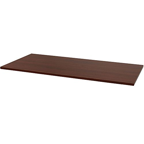 CASL Brands Rectangle Laminate Table or Desk Top, 59 x 29-Inch, African Walnut