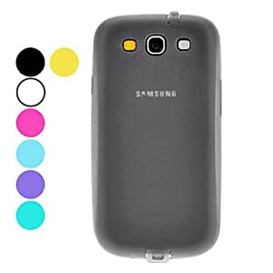 GHK - TPU Hard Case with Dustproof Plug and HD Screen Protector for Samsung Galaxy S3 I9300 (Assorted Colors) , Gray