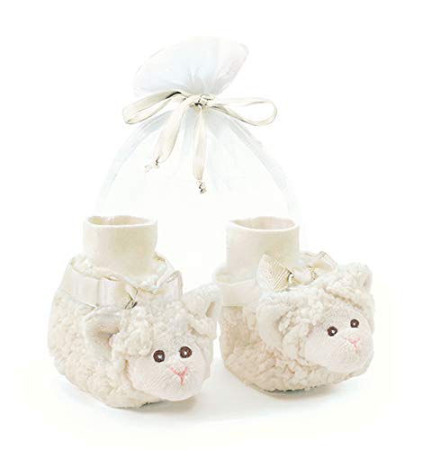 Bearington Baby Lamby Plush Stuffed Animal Lamb Sock Top Slipper Booties
