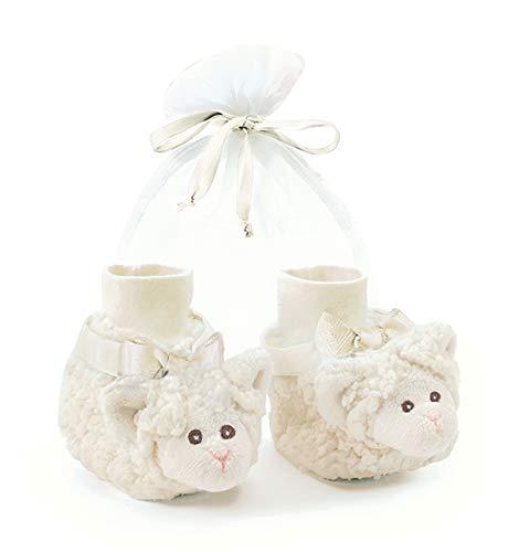 Lamb Booties - Bearington Baby Lamby Plush Stuffed Animal Lamb Sock Top Slipper Booties