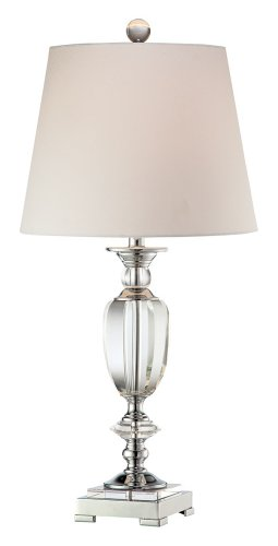 Beveled Crystal Urn Table Lamp ()