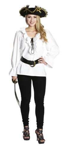 00baf287bf1d Rubie s Damen Kostüm Piratenbluse Bluse weiß Piratin Karneval Halloween 34