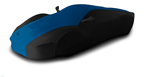 Coverking Custom Fit Car Cover for Select Ford Mustang Models - Satin Stretch (Grabber Blue with Black Sides) ()