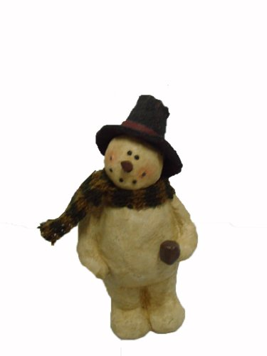 craft-outlet-papier-mache-snowman-holding-pipe-figurine-675-inch