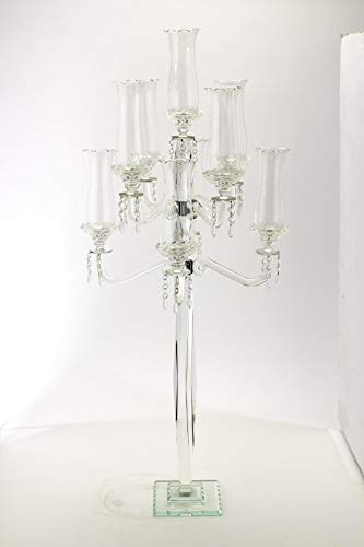 Crystal Candelabra 9 arm Glass Hurricane globes 49