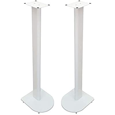 Fisual Dynami Uno Speaker Stands  Pair   900mm  Gloss White