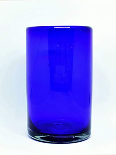 (Mexican Blown Glass Drinking Glasses 'Solid Cobalt Blue' (Set of 6))