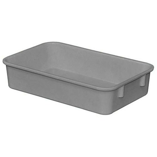Molded Fiberglass Toteline Nesting Tote 9221085136 - 9-3/4''L x 6-1/8''W x 2-1/8''H, Gray - Lot of 6