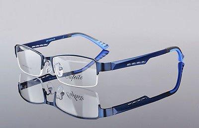 Men's Sports Fashion Half rimless Eyeglass Frames Optical Eyewear - Eyeglass Stores Frames