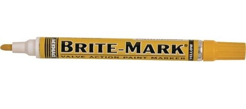 BRITE-MARK Medium Tip Paint Marker, Yellow ITW Pro Brands 84004