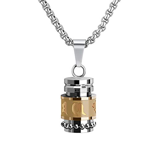 XIUDA Stainless Steel Pendant Cremation Jewelry (18K Gold)