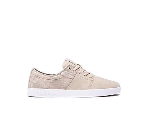 Supra STACKS II Unisex-Erwachsene Sneakers Tan/Weiß