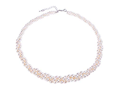 Alilang Fashion Faux Pearl Multi-Strand Twisted Chunky Wedding Party ()