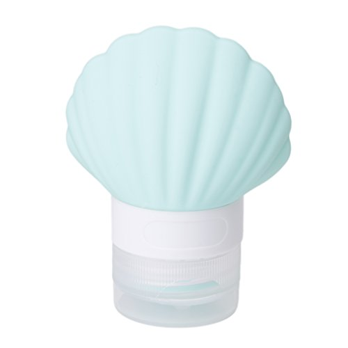 Susada 40ml Silicone Squeeze Travel Bottle Seashell Shape Empty Container Tube (Light Blue)