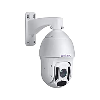 WeLanc 1080p Face Recognition Smart Starlight PTZ PoE+ Camera, Outdoor 20x Optical Zoom with Built-in Mic and Night Vision up to 800ft, ONVIF Conformant (P620)