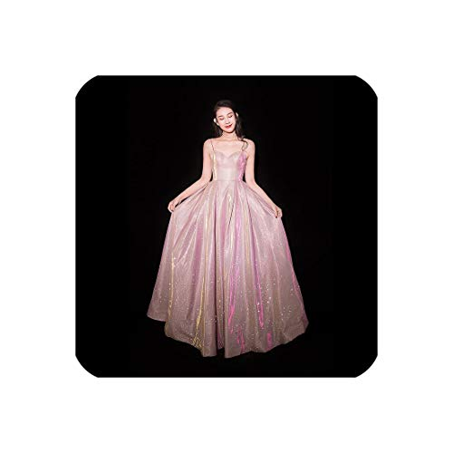 Shining Star Turkey - Evening Dress Formal Dresses Bling Star Shining Strapless Long Party Gown E087,Pink,10