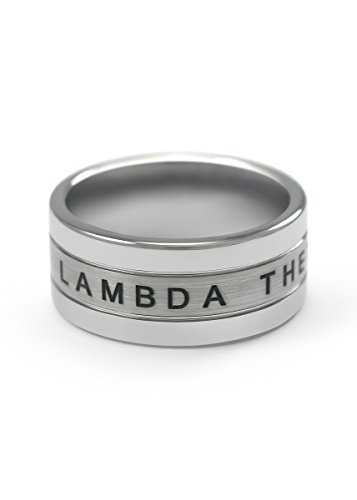 The Collegiate Standard Lambda Theta Phi Tungsten Ring (9.0)