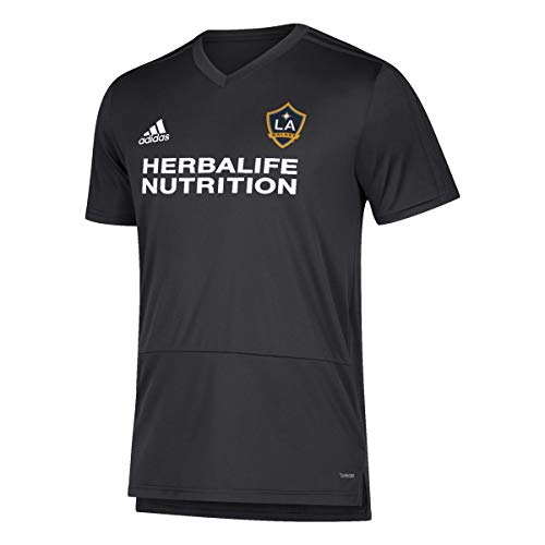 adidas LA Galaxy MLS Men's Black Climacool 2018 Training Jersey (L)