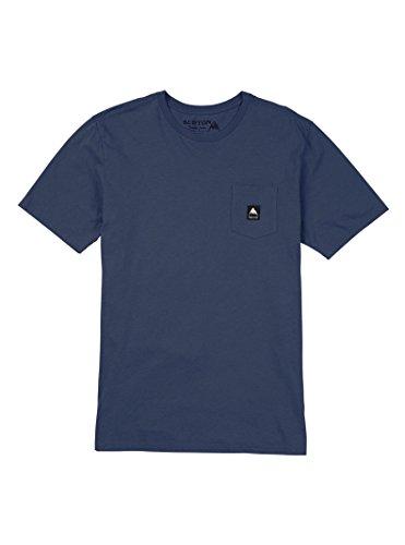 Burton Colfax Short Sleeve Tee, Mood Indigo, (Burton Blue Shirt)