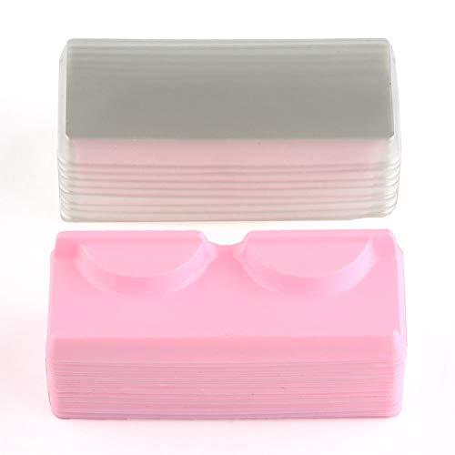 False Eyelash Storage Box Pack of 50, Empty False Eyelash Care Storage Case Box, Makeup Organizer Plastic Container Holder Tool ()