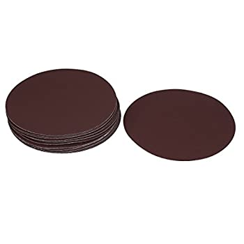 uxcell Glass Fiber Plate Polishing 1500 Grit Hook and Loop Sanding Disc Brown 20 Pcs