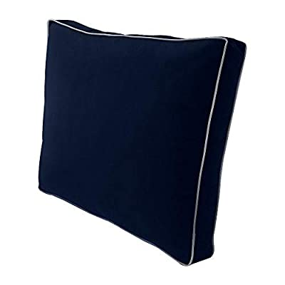 PROLINEMAX Contrast Piped Trim Large 26x30x6 Deep Seat + Back Slip Cover Only Outdoor Polyester AD101: Home & Kitchen