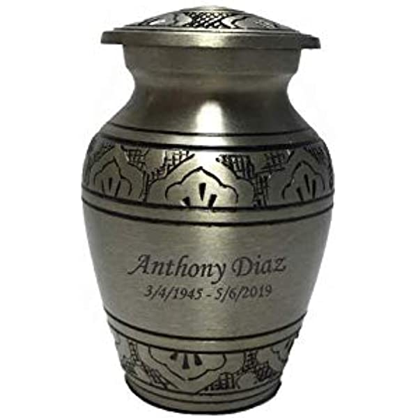 Funeral Tokens Customized Pewter Keepsake Cremation Urn Small Size Ash Urns with Personalized Engraving