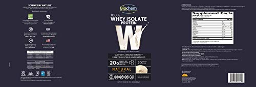 Biochem Ultimate 100 % Whey protein, Natural, 24.6-Ounce Can by Biochem (Image #3)