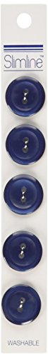 Slimline Buttons Series 1-Navy 2-Hole 3/4 5/Card