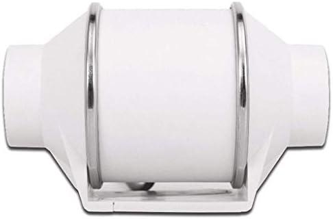 Ventilador de escape de 4 Pulgadas Baño Cocina Ventilación Hogar Presión estática 125Pa Volumen de Aire 155m3 / h ...