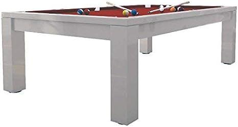 dafnedesign. com – Mesa de billar – Acabado Color Lacado Blanco ...