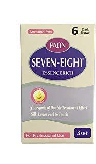 PAON Ammonia Free Seven-Eight EssenceRich 3 Set #4/5/6/7 (6-Dark Brown)