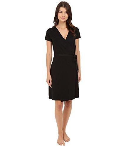 Pact Super Soft Organic Women's Wrap Dress Style EA1-WWD (Large, Black) by Pact
