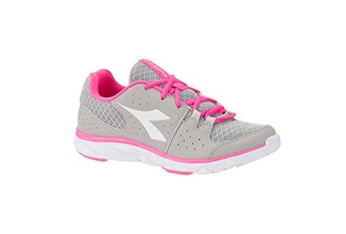 Diadora Shoes Running Sneaker Jogging Women Hawk 7 Gray/pink fluo 40 Grigio Size 8.5