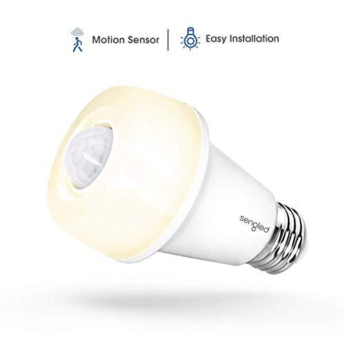 Sengled LED with Motion Sensor (Smartsense), Soft White 2700K, A19 60W Equivalent, Indoor Use, 1 Pack