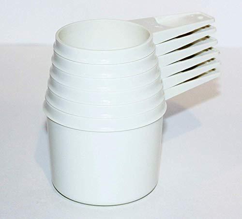 Set 6 Vintage Tupperware Stacking Nesting Measuring Cups